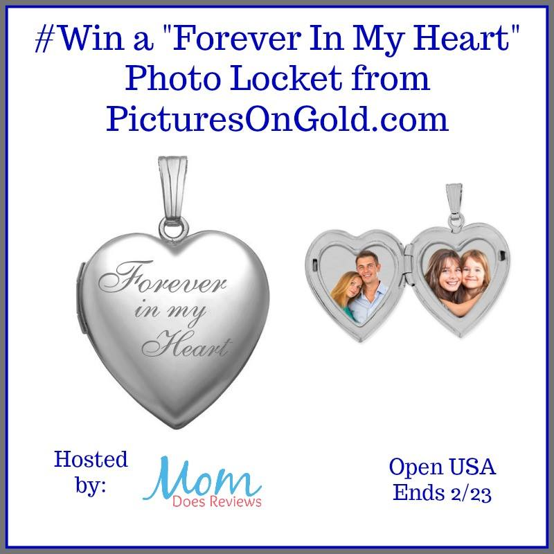 Looking for a timeless gift your sweetheart can use every day? Enter to win a PicturesOnGold.com Forever In My Heart heart-shaped photo locket here!