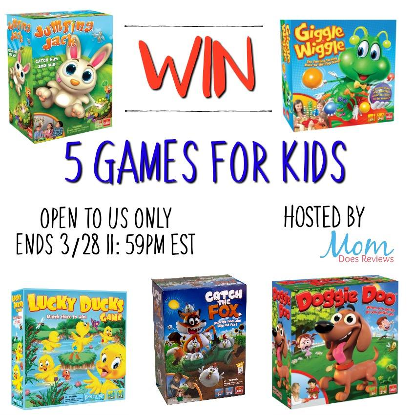 Looking for some extra fun for family game night? Enter to win 5 games for kids here!
