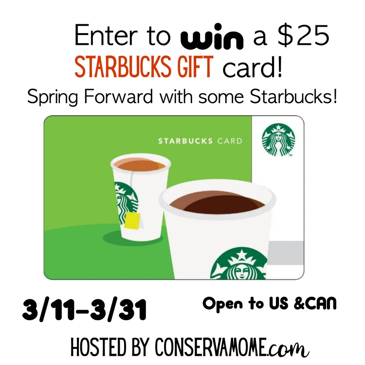 Need help perking up after this long winter? Enter to win a $25 Starbucks gift card here!