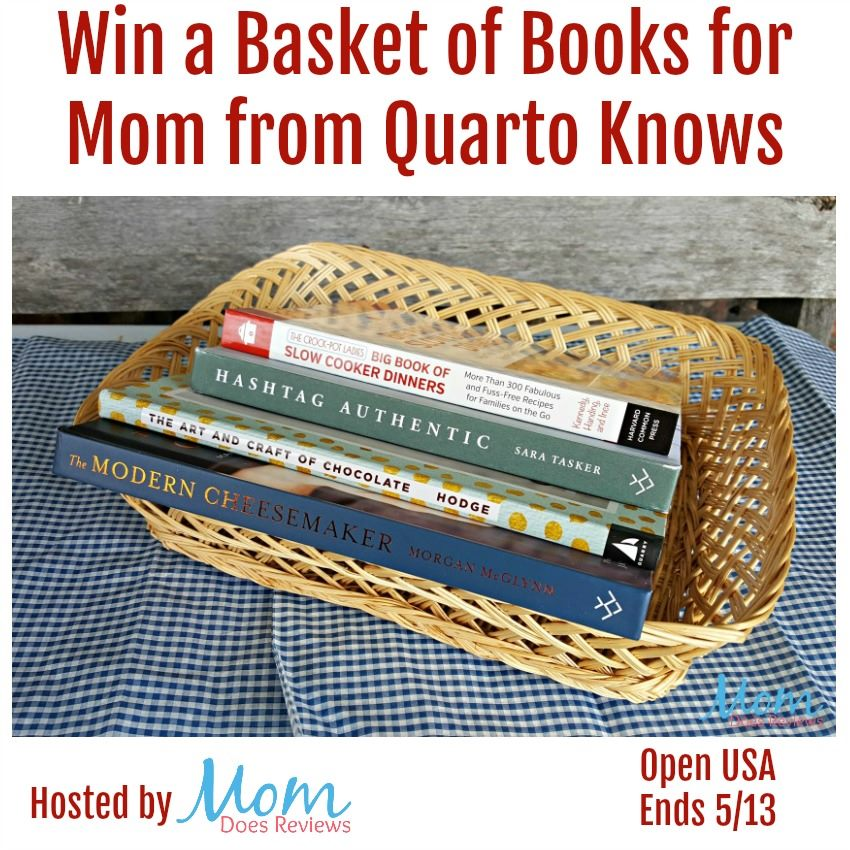 Know a mom who loves to read? Enter to win a Quarto Knows basket of books for Mom here!