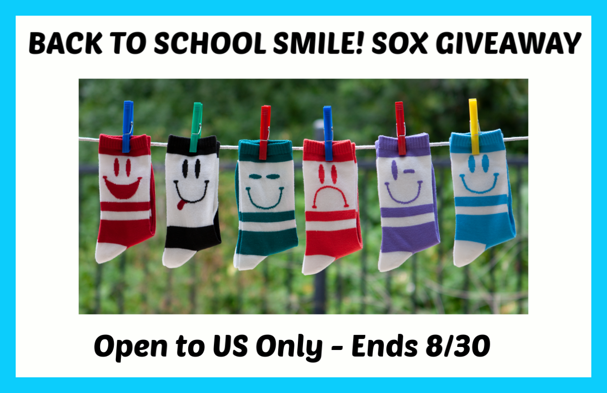 Want to show the world how you're really feeling? Enter to win a set of 6 SMILE! SOX here!