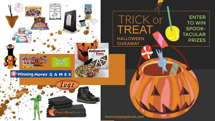 Interested in winning some fun Halloween treats with no tricks involved? Enter to win spooktacular prizes like a chocolate pizza, Zombie Plant seeds, PeachSkinSheets, and more in this Trick or Treat Halloween giveaway!