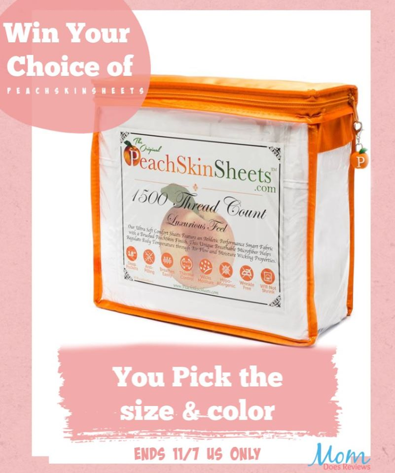 Want to keep cozy during the cooler weather? Enter to win a set of breathable, temperature-regulating PeachSkinSheets here!