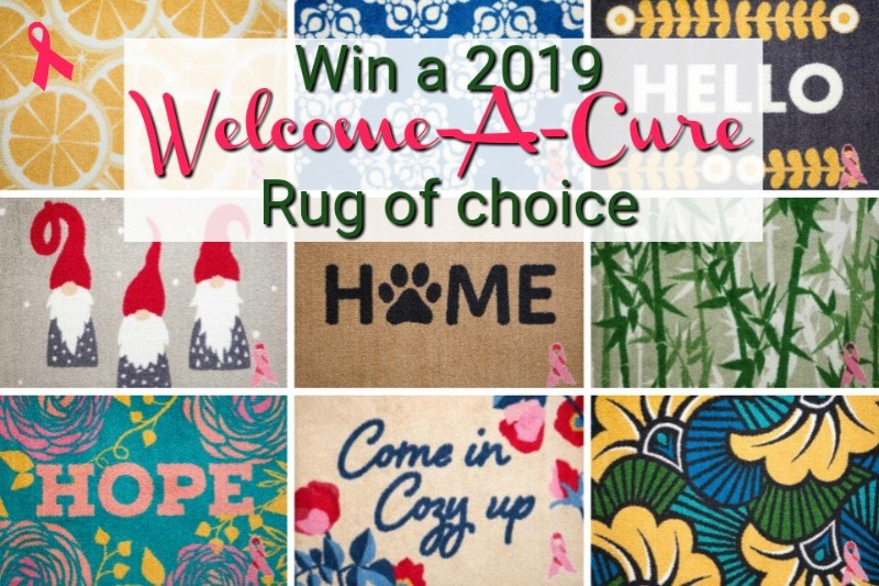 Want to update the look of your home while supporting a great cause? Enter to win a 2019 Welcome-A-Cure Rug of your choice here!