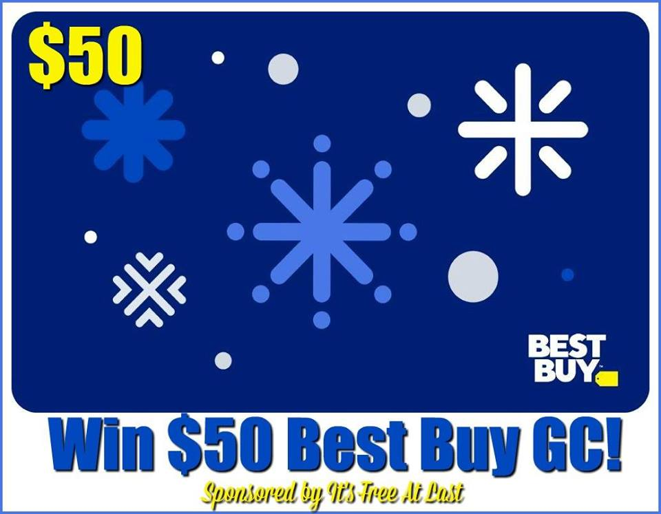 Want to start your Christmas shopping early? Enter to win a $50 Best Buy gift card here!