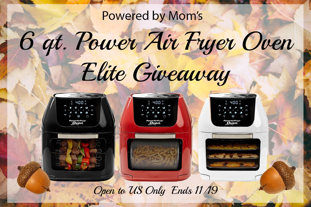 Looking for a healthier way to enjoy your favorite fried foods? Enter to win a 6qt. Power Air Fryer Oven Elite here!