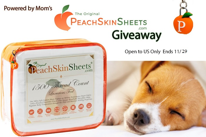 Looking for a cooler, cozier night's sleep? Enter to win a set of PeachSkinSheets here!