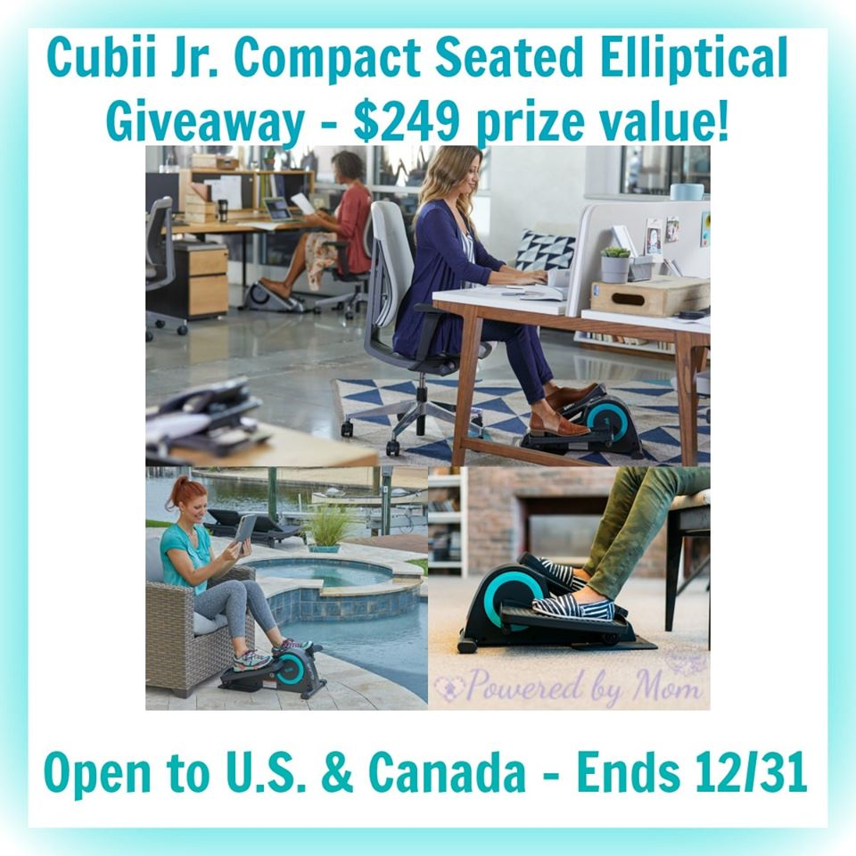 Looking for a fun, portable fitness tool? Enter to win a Cubii Jr. Compact Seated Elliptical here!