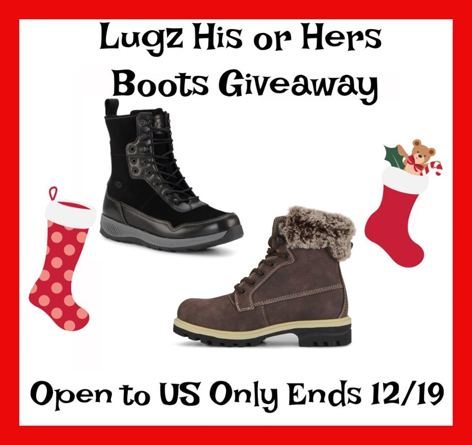 Looking for a new pair of boots as stylish as you are? Enter to win either the Lugz Women's Mallard boot or the Men's Joel boot here!