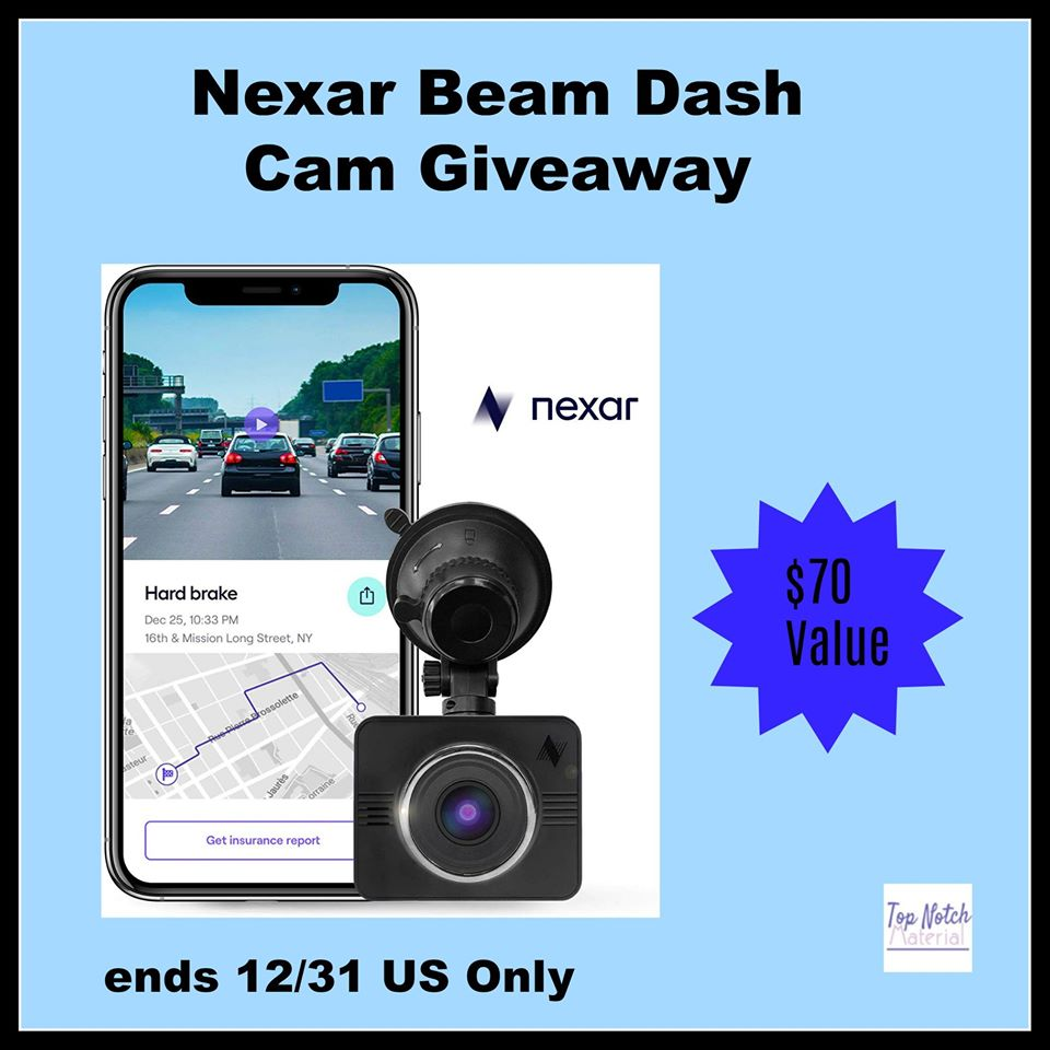 Wondering how to better keep your family safe while driving? Enter to win a Nexar Beam Dash Cam here!
