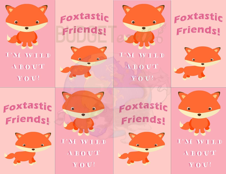 Fox Valentine's Day Cards