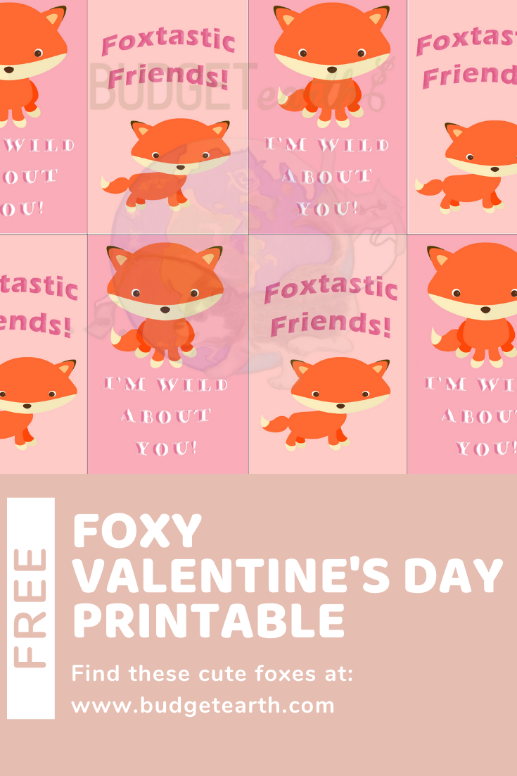 fox valentines day cards