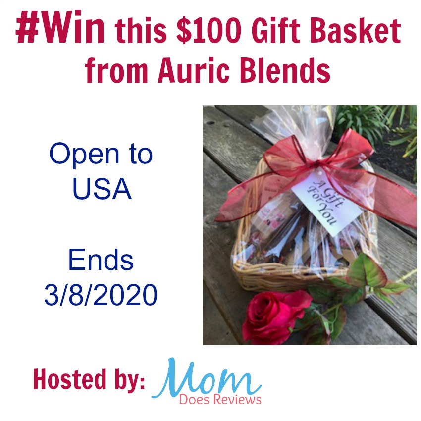 Do you know someone who deserves a basket of love and self care? Enter to win a $100 gift basket of products from Auric Blends here!