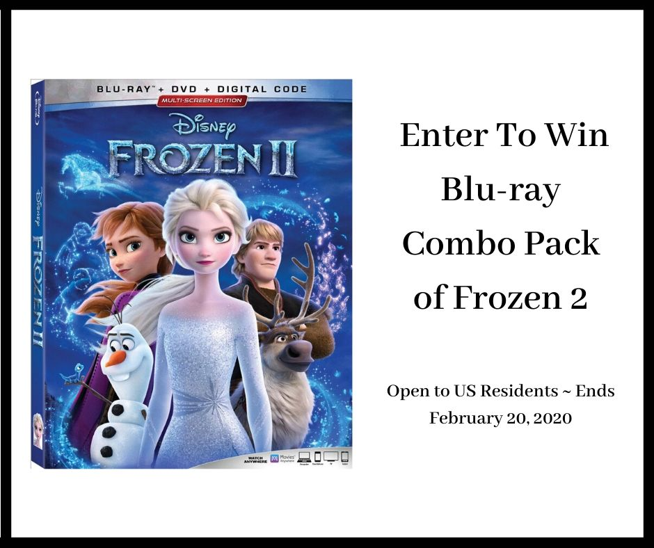 Does your family love Frozen? Enter to win a Frozen 2 Blu-ray Combo Pack here!