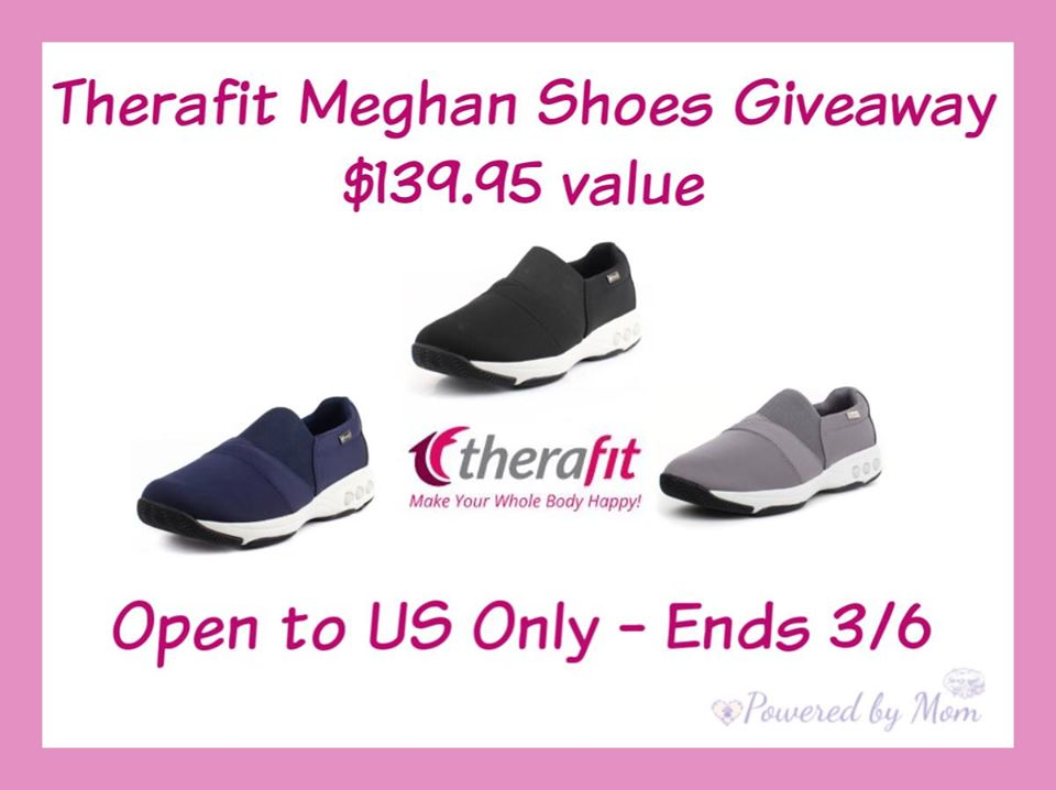Are your shoes designed for optimal support and comfort? Enter to win a pair of Therafit Meghan Slip-On Shoes here!