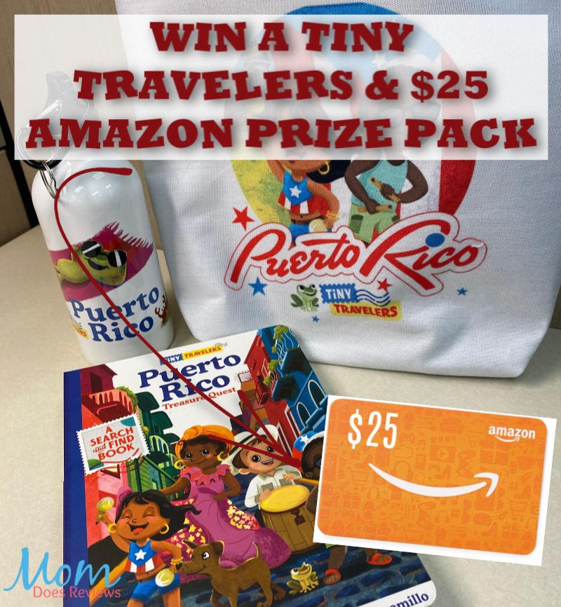 Do your little ones long to travel the world? Enter to win a Tiny Travelers prize pack + $25 Amazon gift card here!