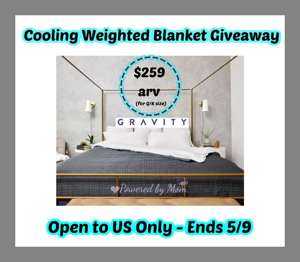 Are you interested in weighted blankets, but worry you'll overheat during the night? Enter to win a Gravity Cooling Weighted Blanket here!