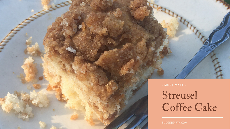 Looking for a soft, buttery cake that pairs perfectly with coffee? Try our quick, scrumptious Streusel Coffee Cake recipe!
