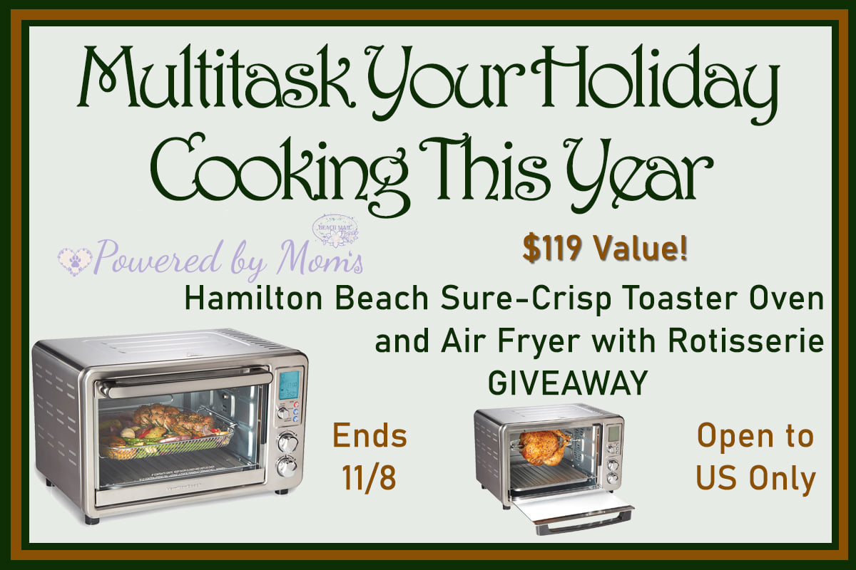 Make your holidays a little more flavorful - enter to win a Hamilton Beach Sure-Crisp™ Digital Air Fryer Toaster Oven with Rotisserie here!