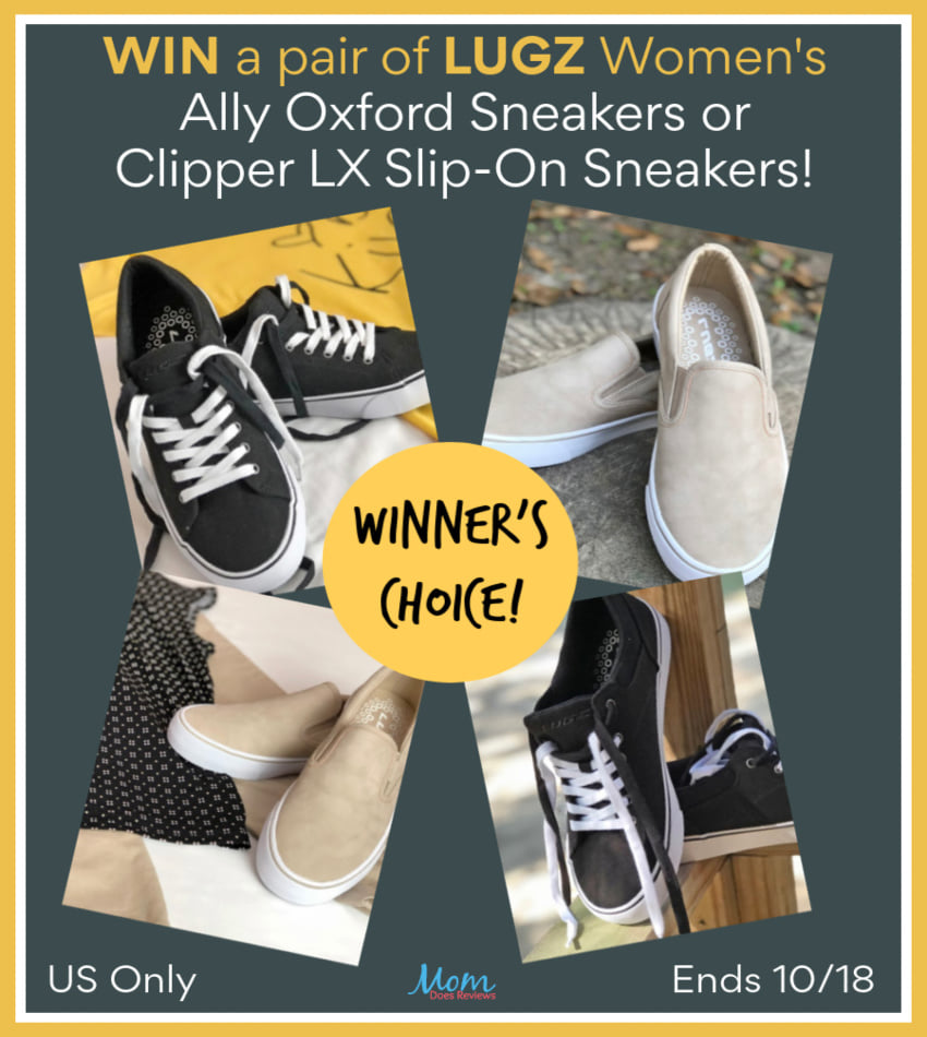 Do your prefer cool and casual or dressy and stylish comfort in a shoe? Enter to win your choice of the Lugz Women's Ally Oxford or Clipper LX Slip-On Sneakers here!