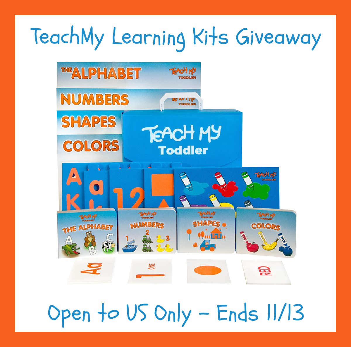 Encourage early screen-free learning! Enter to win 2 Teach My Learning Kits here!