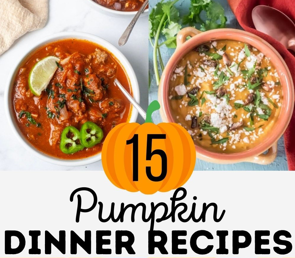 pumpkin dinner recipes including soup and pastas made with pumpkin