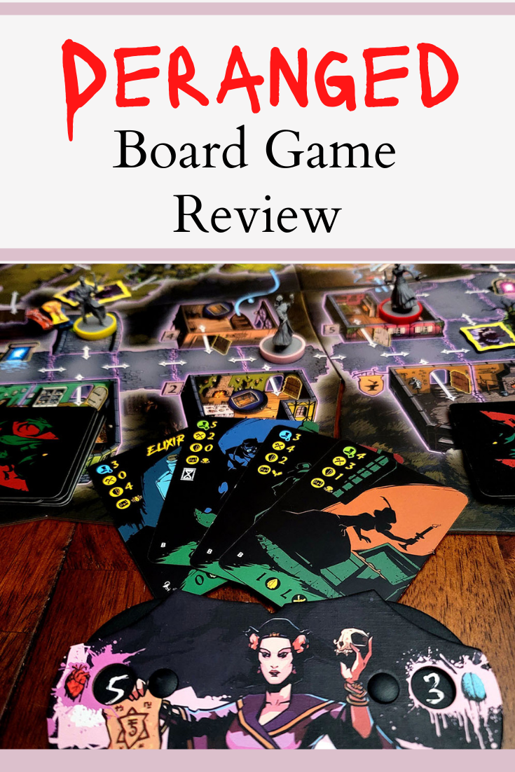 Deranged the board game with cards and character